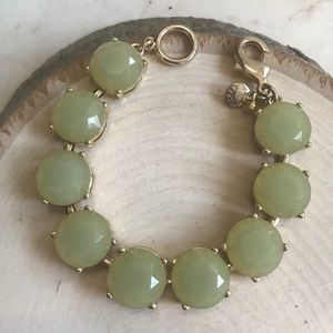 🎁New JCrew Sea green studded stone Bracelet🎁